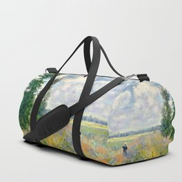 Poppy Fields near Argenteuil by Claude Monet Duffle Bag