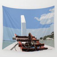 bow Wall Tapestries featuring Bow by Sony Purba