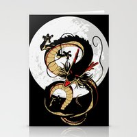 dragon ball Stationery Cards featuring Black Dragon by TxzDesign
