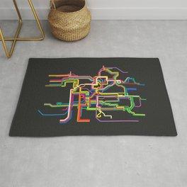 prague metro tram map Rug