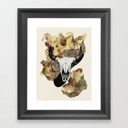 Buffalo Skull by carographic Framed Art Print