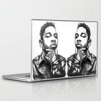 kendrick lamar Laptop & iPad Skins featuring Kendrick Lamar Lithograph by Drewnelz