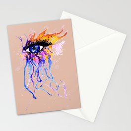 Flamy Watercolor Eye Stationery Cards