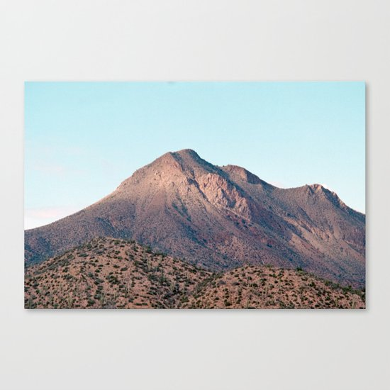 the mountain layer Canvas Print