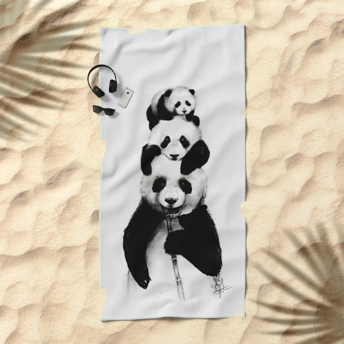 Pand-erations Beach Towel