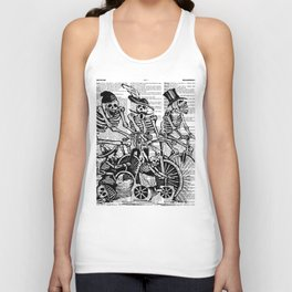 Calavera Cyclists | Black and White Unisex Tank Top