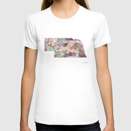 Nebraska map Landscape T-shirt