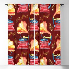 Gramophone Classic Rock Music  Blackout Curtain