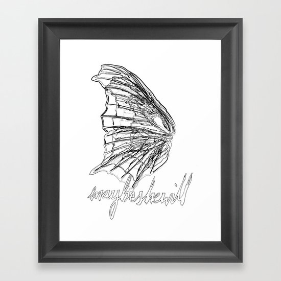 MSW Wing #01 Framed Art Print