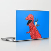 dinosaur Laptop & iPad Skins featuring Dinosaur B Forever by Isaboa