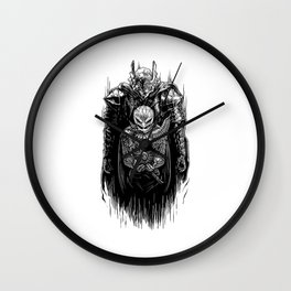 Black Swordsman Wall Clock