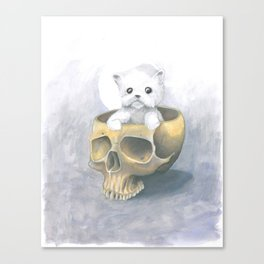 i ated all the brains Canvas Print