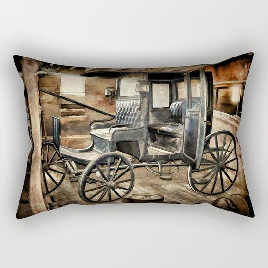 Vintage Horse Drawn Carriage Rectangular Pillow