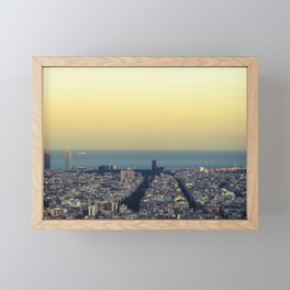 Barcelona view Framed Mini Art Print