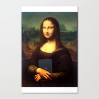mona lisa Canvas Prints featuring mona lisa by Roman Belov
