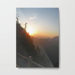 Sunset on the mine Metal Print