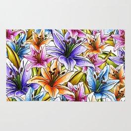 Stargazer Lily Floral Rug