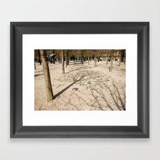 Tree & Shadow Framed Art Print