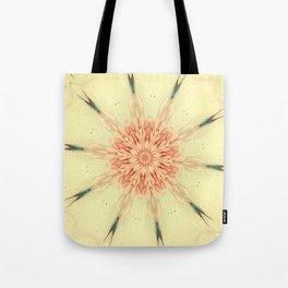 Serene Coral Rose Kaleidoscope Tote Bag