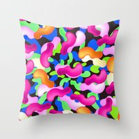 the thing Throw Pillows featuring Thing by Danny Ivan