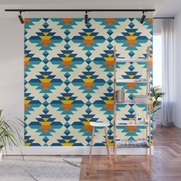 Rounded colorful aztec diamonds pattern Wall Mural