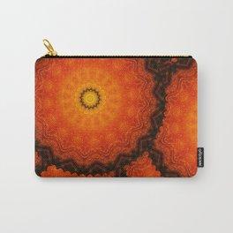 Velvet Sunflowers Motif -- Vibrant Autumn Hues Carry-All Pouch