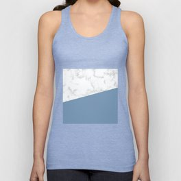 marble and ocean blue Unisex Tank Top