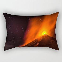 Real Eruption Rectangular Pillow