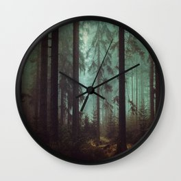 Shadows in the morning mist  Wall Clock