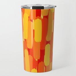 Sunset Flame Brush Strokes Travel Mug