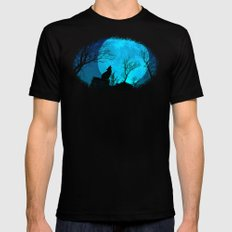 Howling wolf Mens Fitted Tee X-LARGE Black