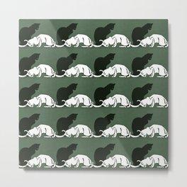 """Théophile Steinlen  """"Frise de chats"""" (original) Metal Print"""