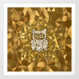 POLYNOID Owl / Gold Edition Art Print