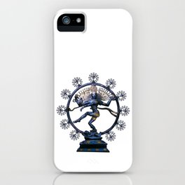 Shiva Nataraj, Lord of Dance (an actual factual fractal) iPhone Case