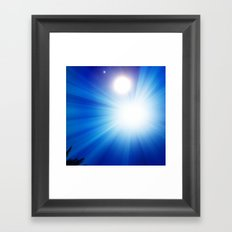 don't stare into the sun Framed Art Print