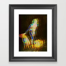 Lady with Leopards Framed Art Print