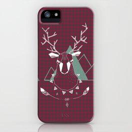 Christmas Geo Deer 4 iPhone Case