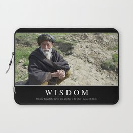 Wisdom: Inspirational Quote and Motivational Poster Laptop Sleeve