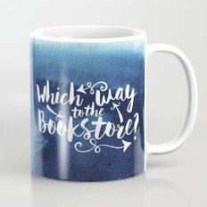 Which Way to the Bookstore? + All Blue Mug