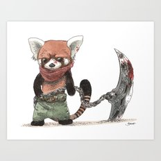 Panda Roux Barbare Art Print