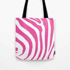 Big Pink Zebra Tote Bag