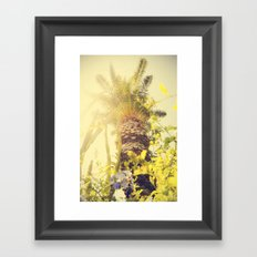 Underneath a California Palm Tree Framed Art Print