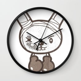 Boxing Bunny Wall Clock