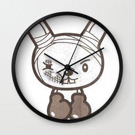 Boxing Bunny Wall Clock