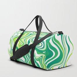 Lime Marbled Agate Slice Duffle Bag