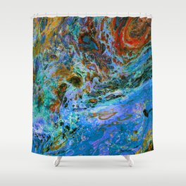 Swirling Tides Shower Curtain