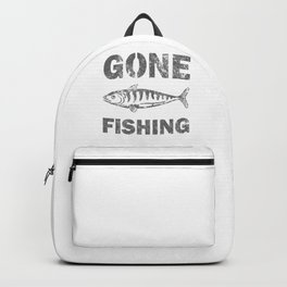Awesome Distressed Fisherman Gifts Gone Fishing Fisher Backpack