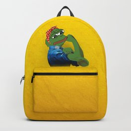 Pepe The Frog Yes we can do it WW2 poster vintage Ad Backpack