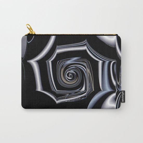 TGS Fractal Abstract in Winter Carry-All Pouch
