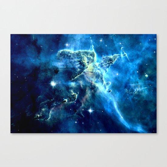 GALAxY Mystic Mountain Blue Canvas Print